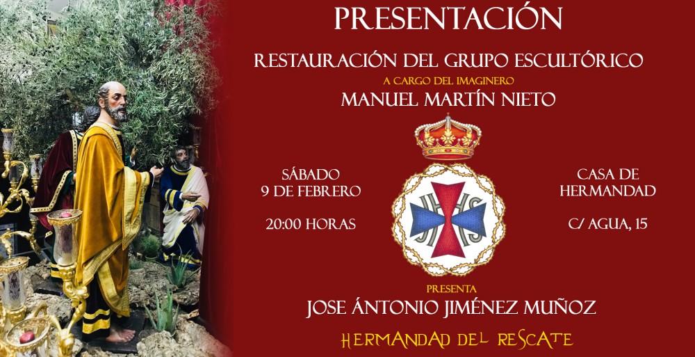 Presentación de la restauración del grupo escultórico de la Cofradía del Rescate