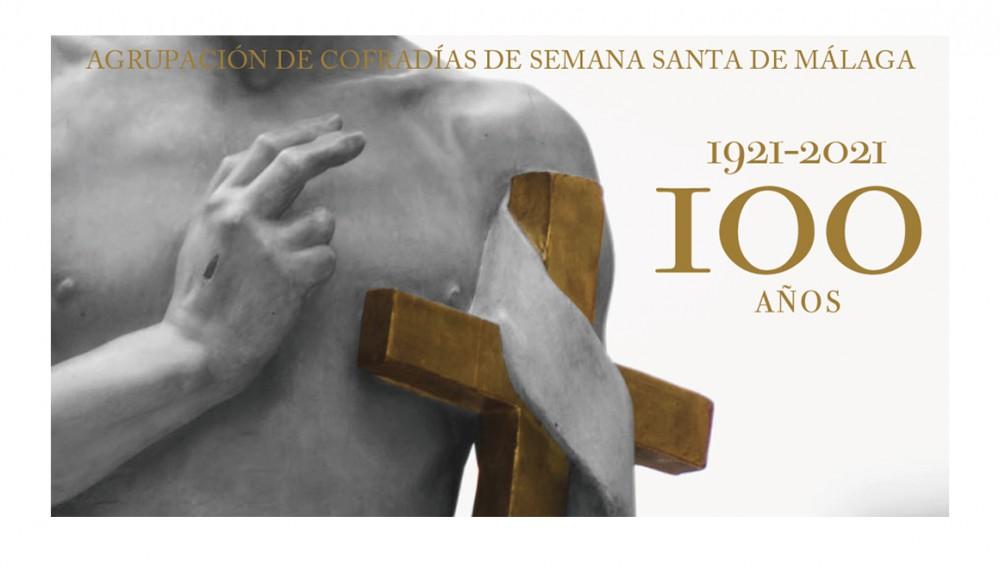 El programa de actos del Centenario de la Agrupación de Cofradías de Málaga.
