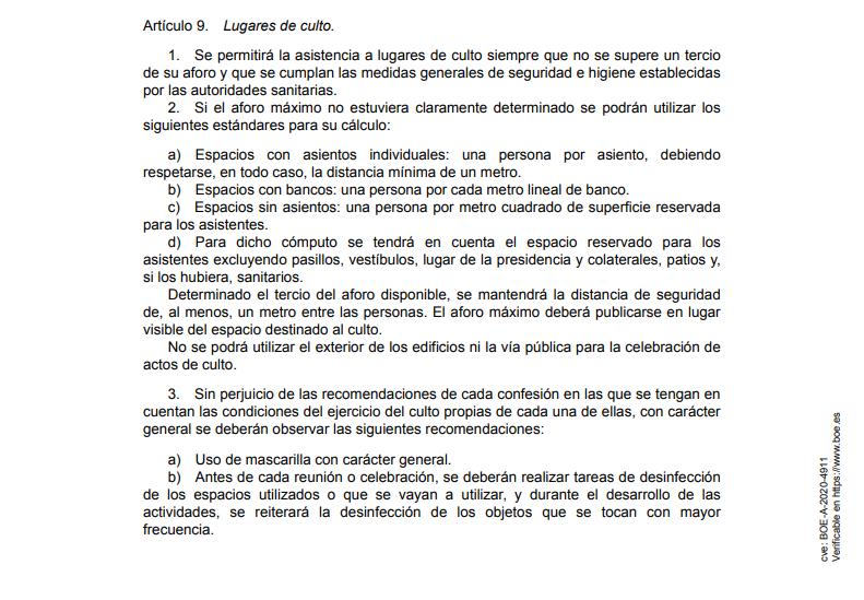 Oficialmente cualquier tipo de procesión queda prohibida por el Gobierno de España