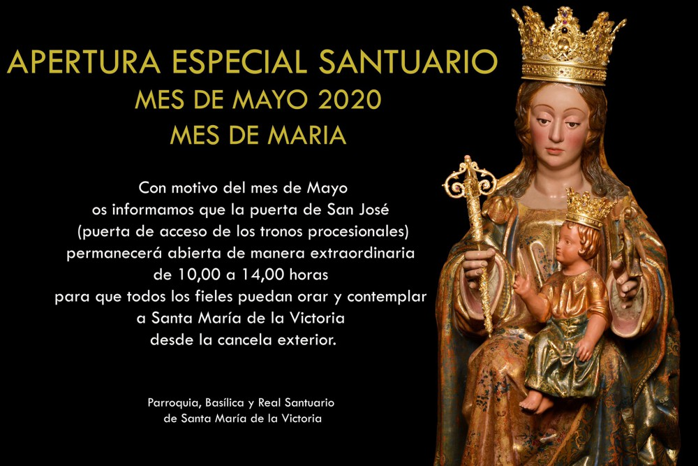 El Santuario de la Victoria abre una de sus puertas para poder venerar a la Patrona de Málaga